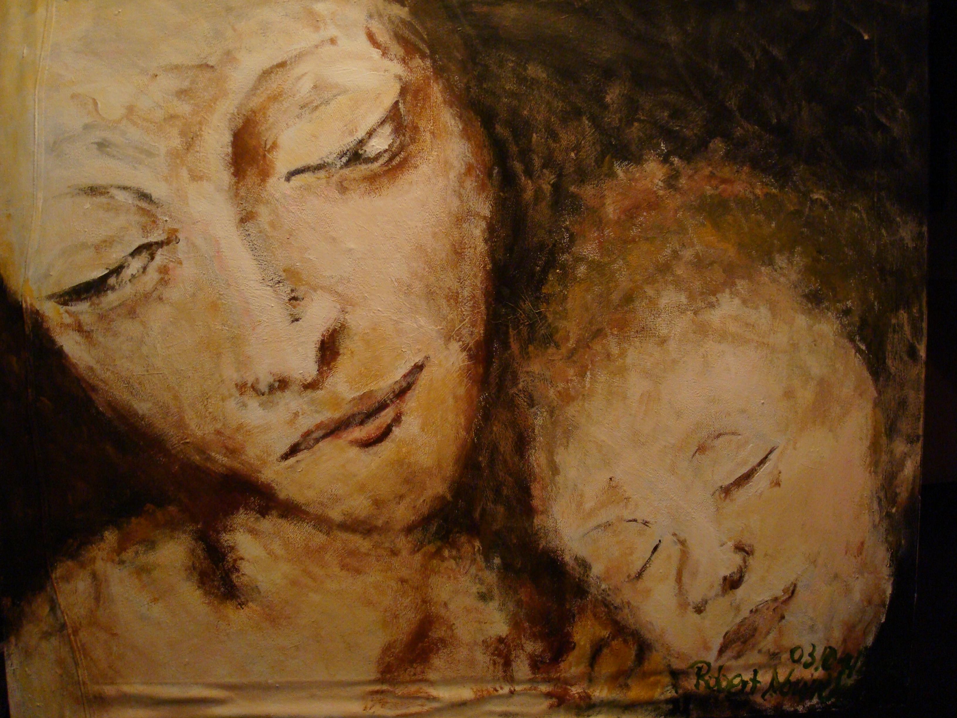 Maria&baby jesus acrylic on canvas