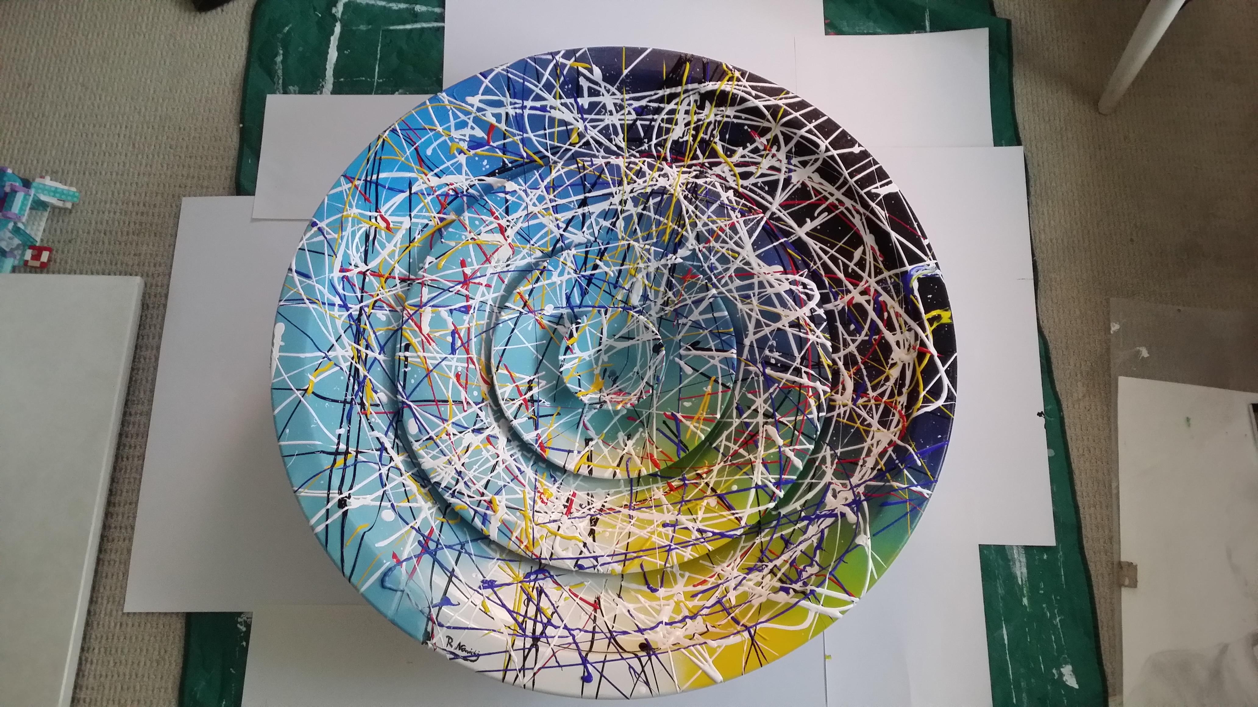 Clockwise acrylic paint size 1mx1m