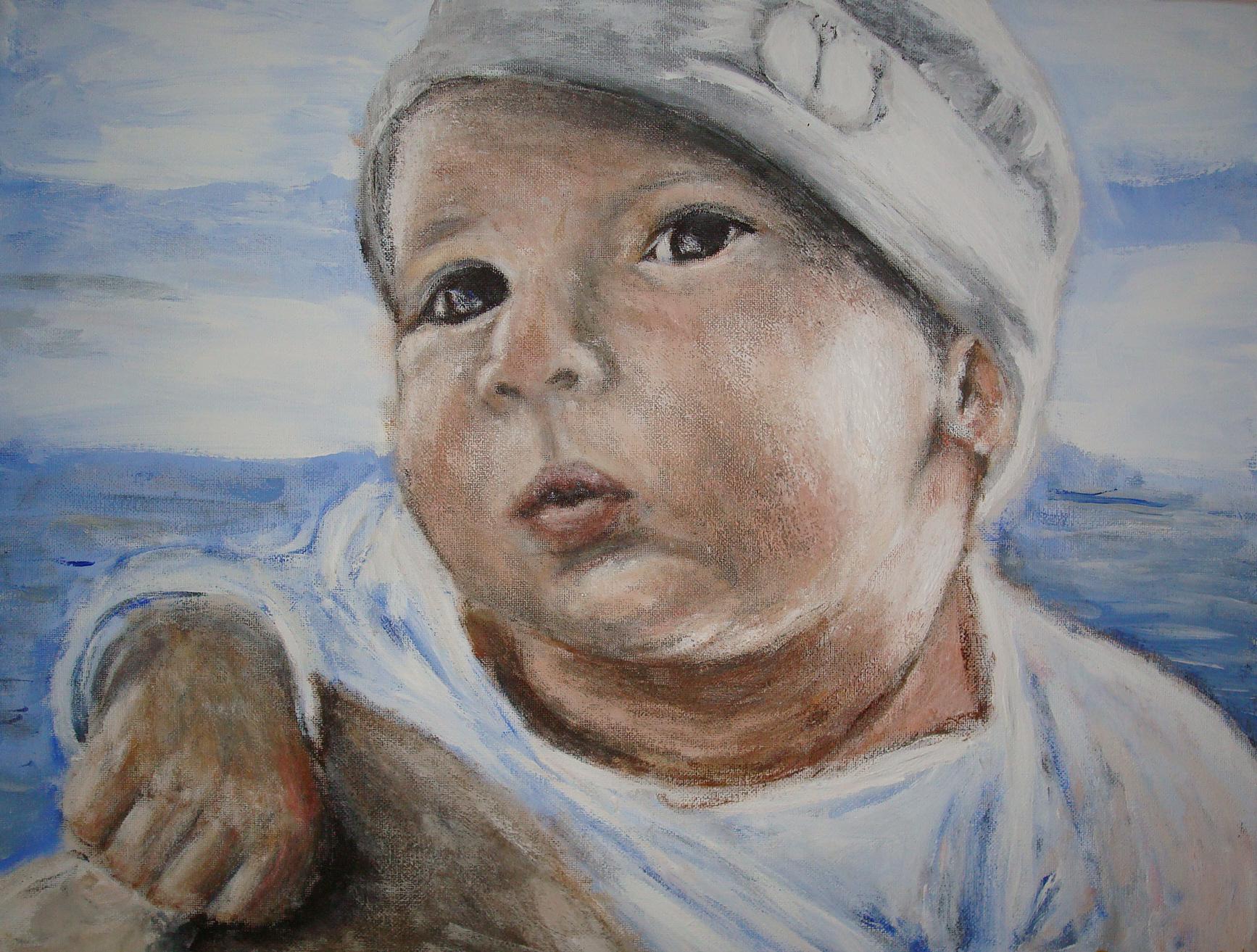 A Baby Acrylic on canvas