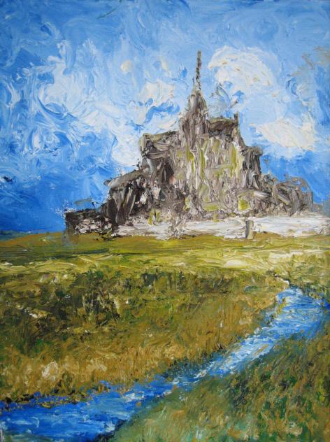 Le Mont St.Michel acrylic on canvas