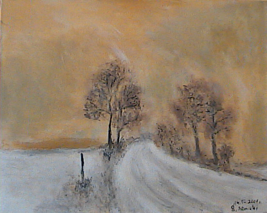 Road acrylic on canvas